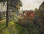 - FRITS THAULOW Norge 1847-1906 Le curé Signerad