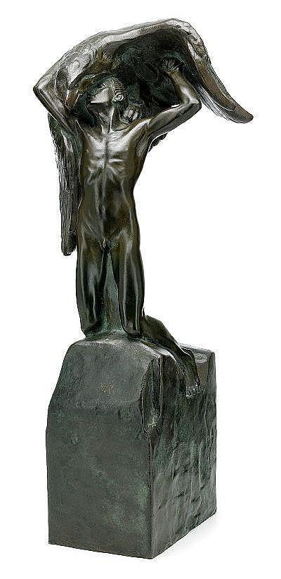 CARL MILLES 1875-1955 Vingarna Signerad Carl