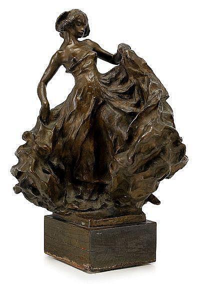 CARL MILLES 1875-1955 Serpentindanserska Signerad