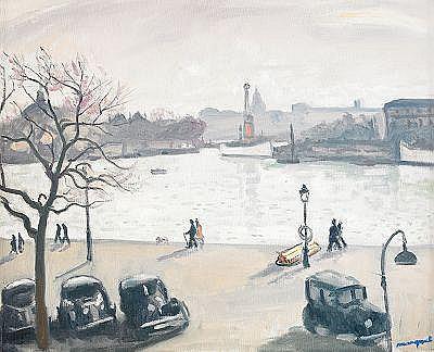 ALBERT MARQUET France 1875-1947 quatre Autos