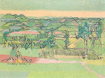 JACQUES VILLON Frankrike 1875-1963 paysage du
