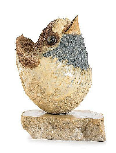 TYRA LUNDGREN, skulptur, fågel, 1972, stengods,