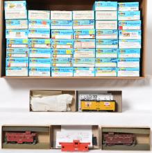 50 HO freight cars MDC, Tyco, Rail Runner, Athearn, etc
