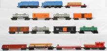 Lionel Postwar 212 Missouri Pacific Alcos and cars 6454, 6464-425, 6162, 6825, etc