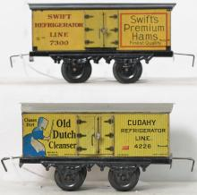 Bing O gauge 4226 Dutch Cleanser & 7300 Swift reefers