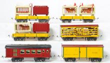 6 MTH reproduction standard gauge Ives circus cars