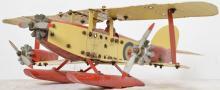Vintage Meccano pontoon airplane