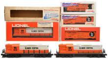 Lionel Illinois Central GP9 2-8030 8254 Freights 9200 9200 9160 MINT Boxed