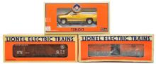 Lionel 18484 Dodge Track Car 19275 PRR Boxcar 19816 Madison Hardware MINT Boxed