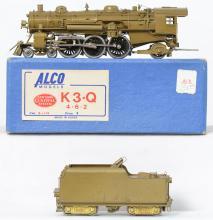 Alco Models HO brass New York Central K3-Q 4-6-2 steam locomotive