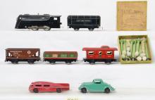Marx tin lithographed O gauge set Hubley & Manoil cars etc