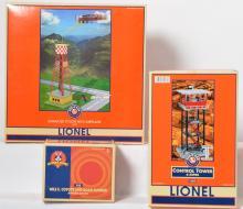 3 Lionel accessories 32920 animated pylon 32988 192R 12955 ambush shack