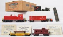 Lionel Postwar O gauge 1525 diesel freight set in OB