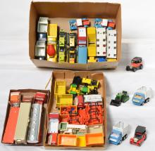 Neat group of tiny Tonka pressed steel and plastic toys