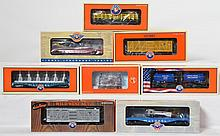 8 Lionel western and military freight cars 39387, 81493, 36856, 18467