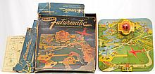 Automatic Toy Co. No. 1300 Airport Futurmatic with Remote Control Plane Boxed