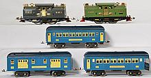 Group of restored Lionel prewar standard gauge locos and pass cars