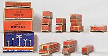 Entire flat full of small boxed Lionel postwar accessories