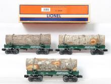 Lionel 29434 Weyerhaeuser Skeleton Log Car 3-PK