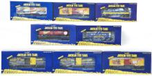 8 American Flyer theme cars 48385, 48390, 48434, 48385, etc