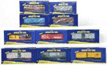 10 American Flyer freight cars 48560, 48621, 48379, 48837, 48272, etc