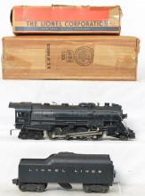 Lionel Postwar O gauge 736 steam locomotive & 2046W tender in OBs