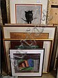 Six framed prints various