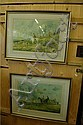 After G Wright: Two large hunting scene prints