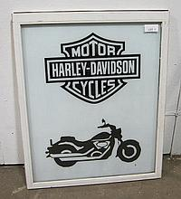 Harley Davidson Glass sign