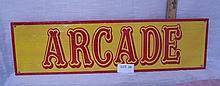 Arcade sign
