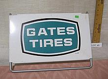Gates Tires metal sign