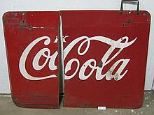 Coca-Cola sign pieces - double sided