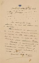 Interesting lot of handwritten correspondence in the form of letters from Emilia Pardo Bazán to Emilio Castelar and Rafael del Val.