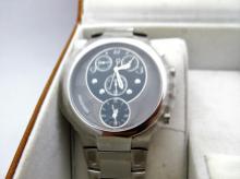 Mens Phillip Stein Stainless Steel Quart Movement Watch with Original Case