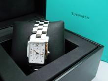 Tiffany & Co. Baume & Mercier Geneve Stainless Steel Watch with Original Inner & Outer Box