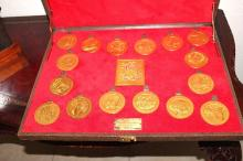Commemorative Medals in Case  Limited to 50 sets (Gucci Box)