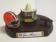 Jim Brown Signed Card & Helmet