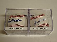2 Sandy Koufax Signed Baseballs