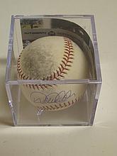 Derek Jeter Used Signed Baseball