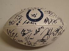 Ind. Colts Team Signed Football