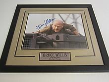Bruce Willis Signed Display