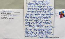 Lynette Sqeaky Fromme (Manson Girl) handwritten letter
