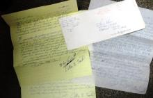 Ottis Toole - Serial Killer Died 1996 / 3 hand signed letters