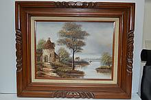 Vintage Artist Signed Oil Painting