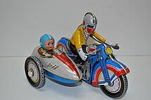 Vintage Tin Toy Motorcycle w/key