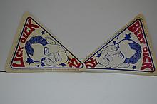 RARE NIXON Beat Dick Stickers