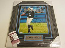 Cam Newton Signed Display