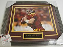 Matt Barkley Signed Display