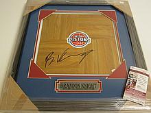 Brandon Knight Signed floorboard
