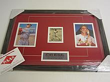 Stan Musial Signed Display